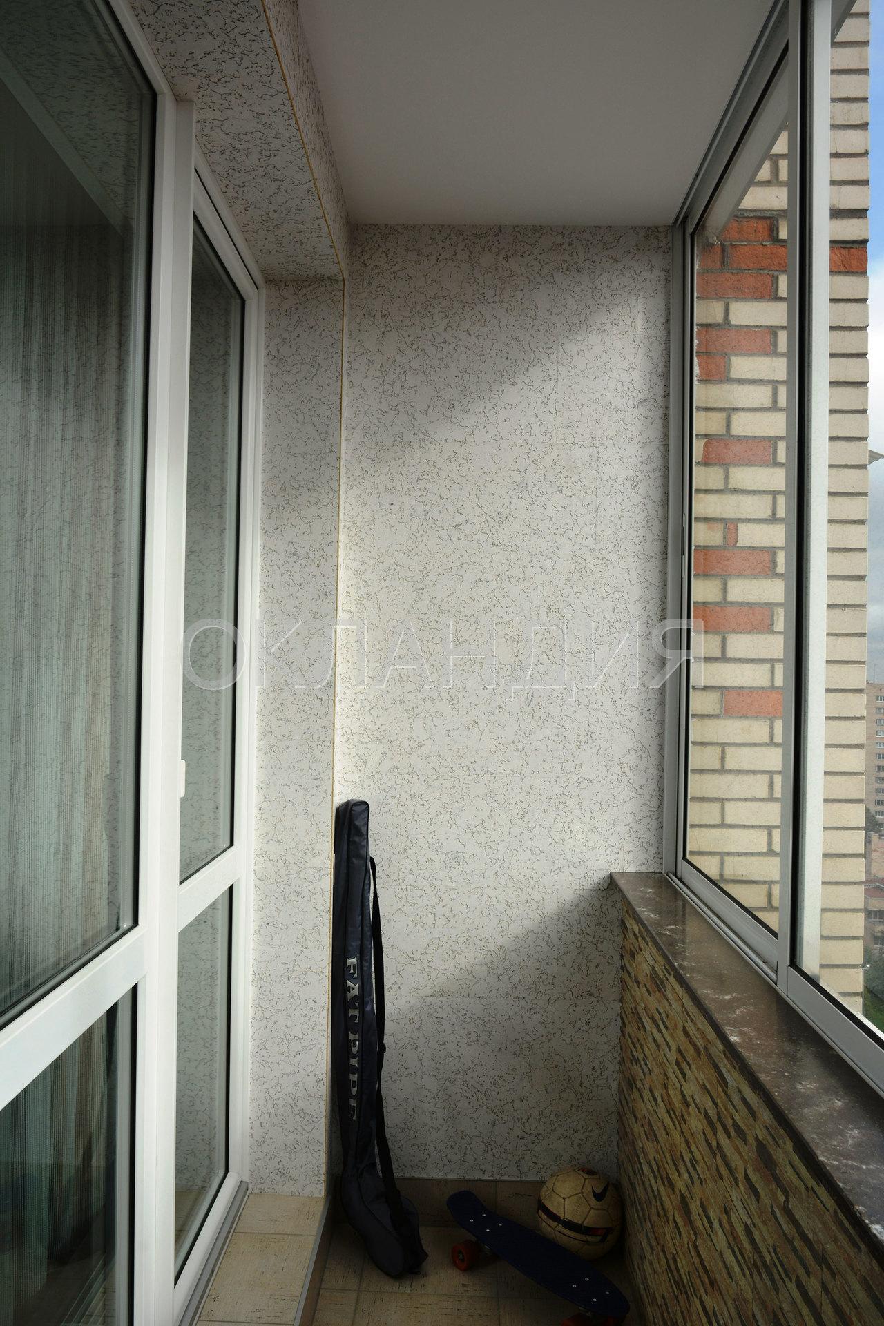 Ремонт балкона в кирпичном доме.