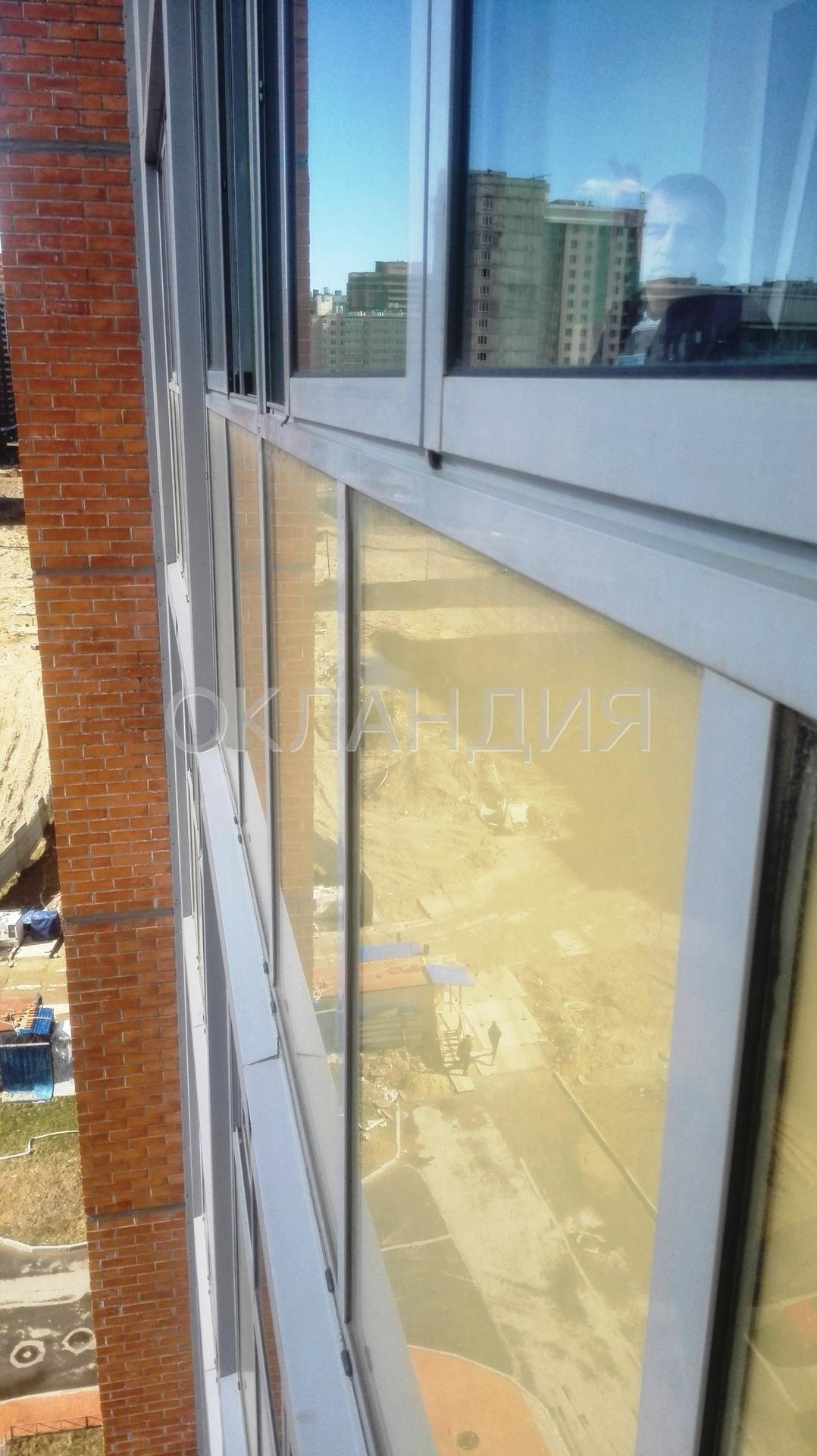 Жк муринская дуга - остекление фасадов, замена холодного ост.