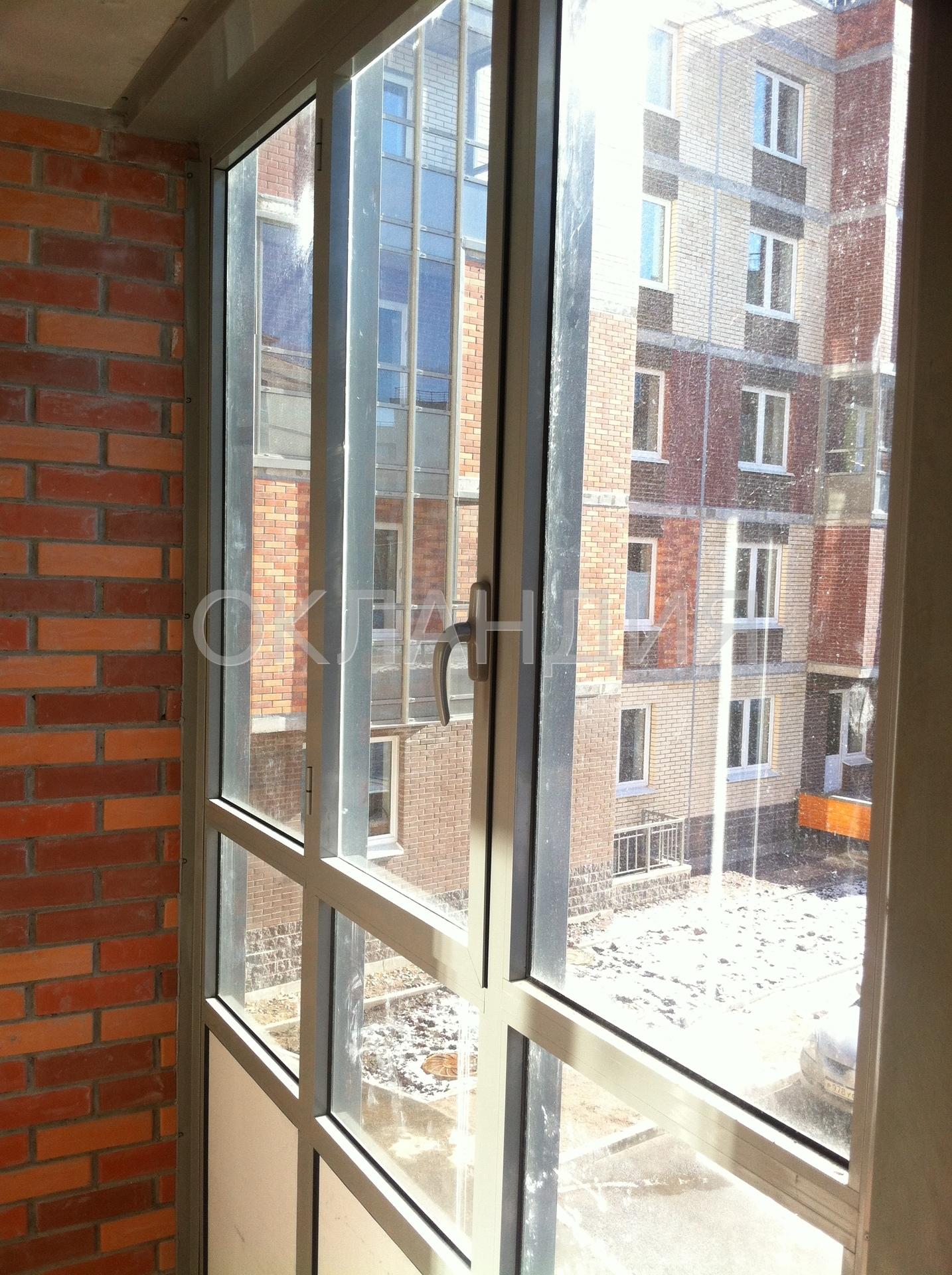 Жк юнтолово - остекление фасадов, замена холодного остеклени.