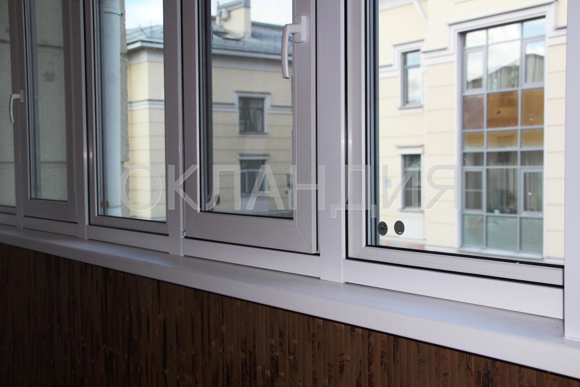 Монтаж окон на балкон по технологии рама в раму.