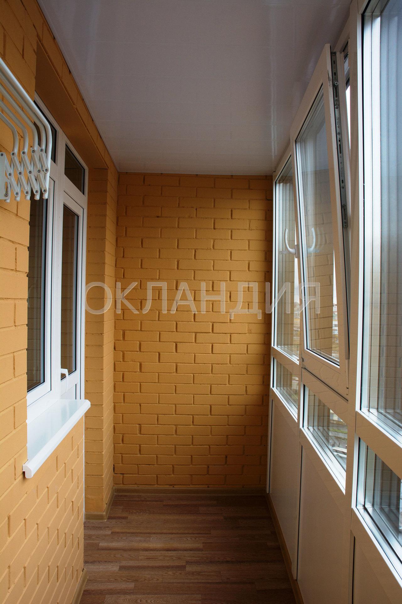 Переостекление фасадной холодной лоджии и покраска стен в жк.