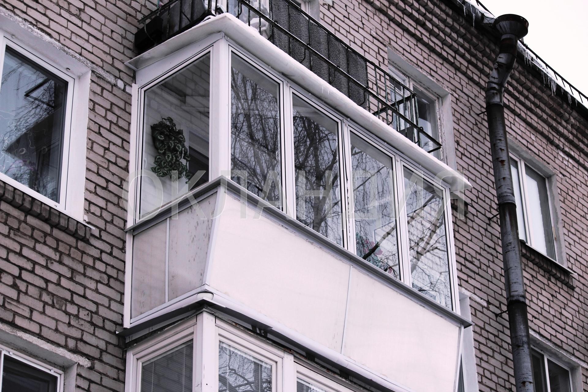 Остекление балконов и лоджий - фотогалерея.