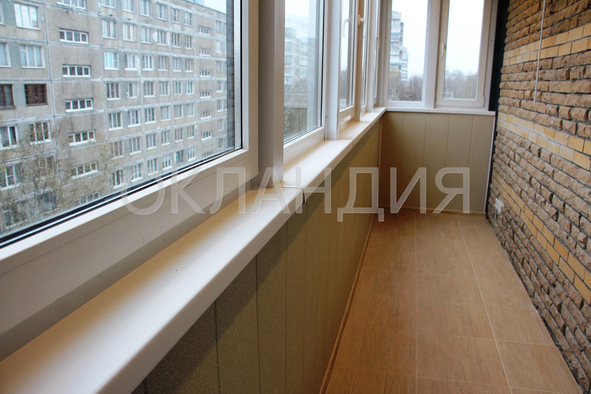 Отделка углового балкона в жк невский дуэт.