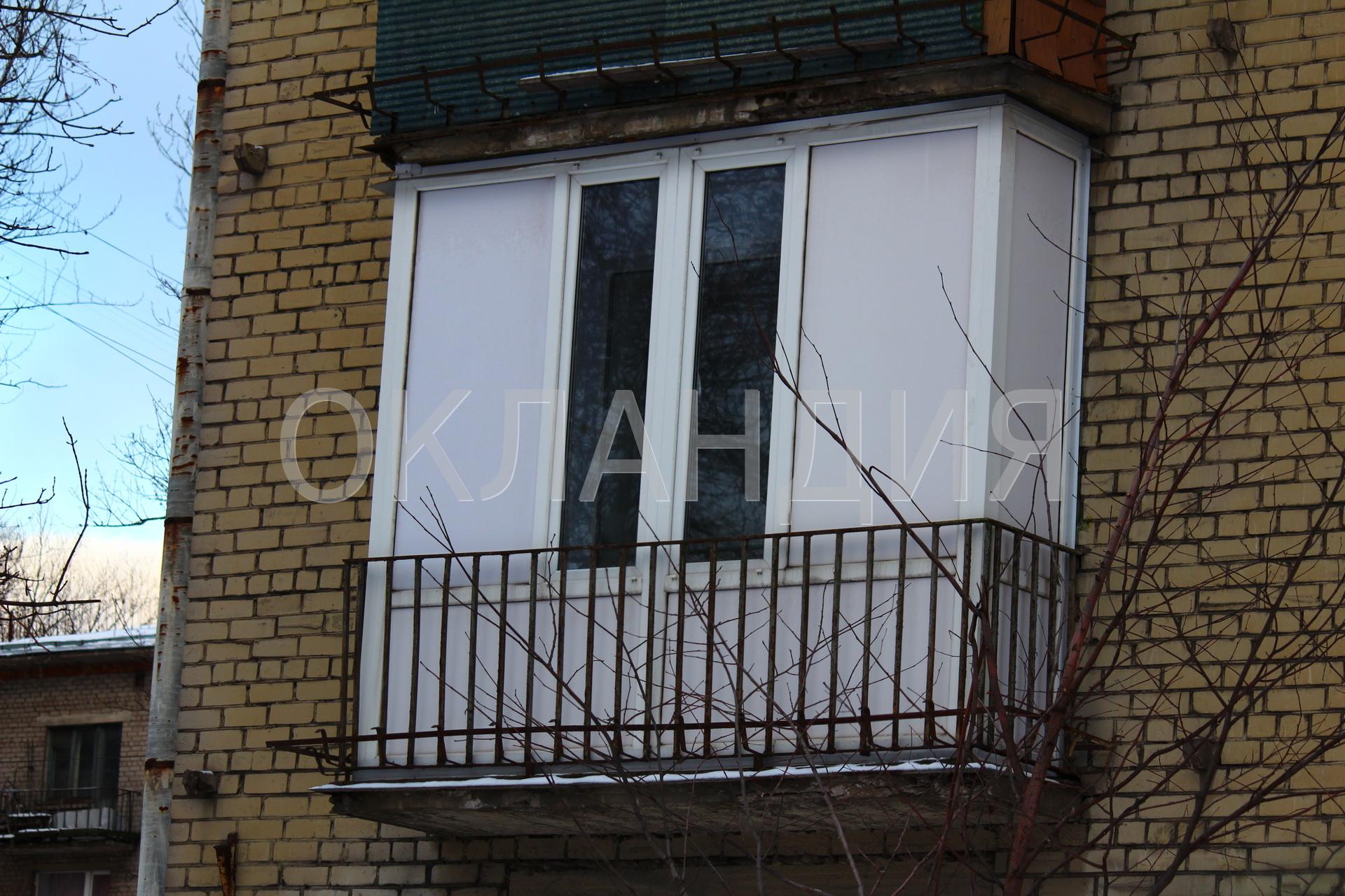 Остекление балкона своими рукамиметалопластик сэндвич панели.
