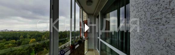 28.Ремонт на балконе с установкой раздвижного остекления и монтажом балконной крыши