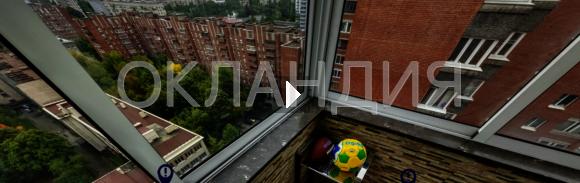 22.Установка балконного козырька, холодное алюминиевое остекление и ремонт балкона в Брежневке