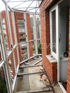 монтаж крыши над балконом и вынос остекления